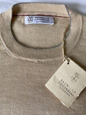 Brunello Cucinelli NWT Lt. Beige Sweater 70% Cashmere 30% Silk - Sz. 50 / M US