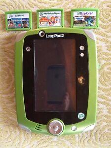 Leap pad 2 + leapster explorer + 6 games