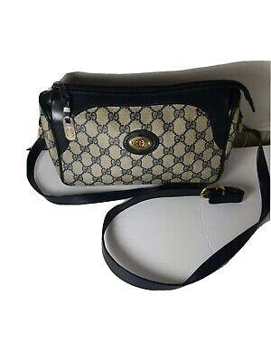 Vintage Gucci Crossbody Bag Bleu GG Logo