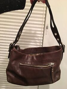 Coach purse - brown leather