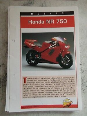 HONDA NR 750 collector file fact sheet.