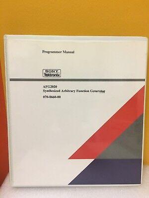 Tektronix Afg2020 Synthesized Arbitrary Function Generator Programmer Manual
