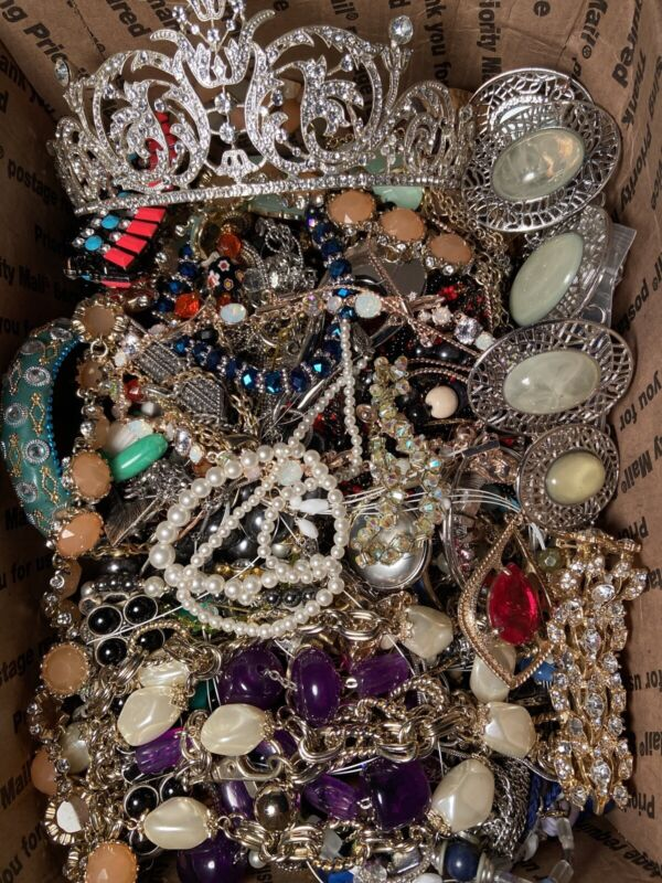 Lot of Costume Jewelry - UNSEARCHED, UNTESTED, Vintage to Modern - Grab Bag/Box