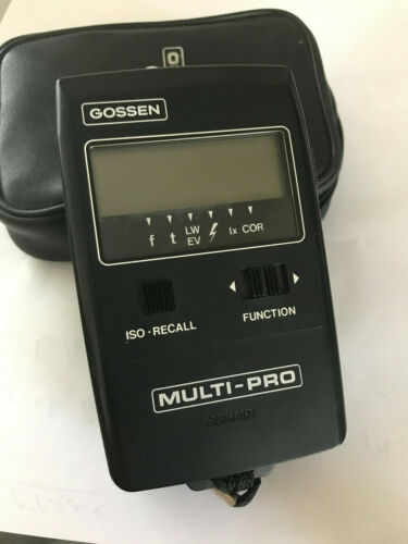 Gossen Multi-Pro Germany Digital Ambient & Flash Exposure Meter w/case