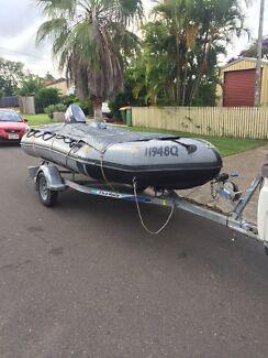 Zodiac Boat. 50hp Yamaha. Stainless Prop. Dunbier Trailer.