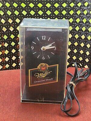 Vintage Clock Miller high Lite Beer advertising lighted sign pre owned H4