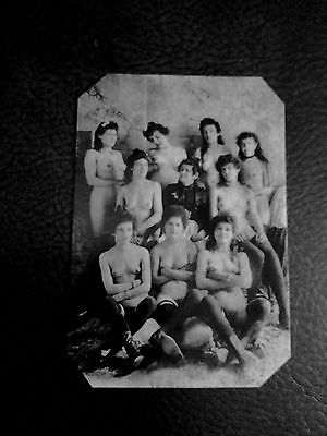 Ladies of the house of ill repute 1890s tintype C1015RP