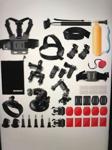 39 Piece Go Pro accessory kit. Works with all GoPro 1 to 5