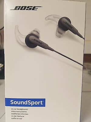 Original Bose SoundSport In-Ear Headphones Charcoal SoundSport Free Shipping