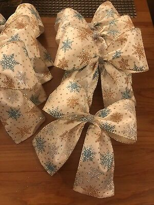 Christmas Tree Bows Set Of 12 Large Bows!!, used for sale  Shipping to Canada