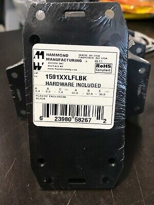 Hammond 1591xxlflbk Abs Plastic Project Box Black