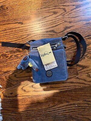 NWT- Kipling El Dorado Crossbody Travel Organizer Bag~ 455 Blue Jean