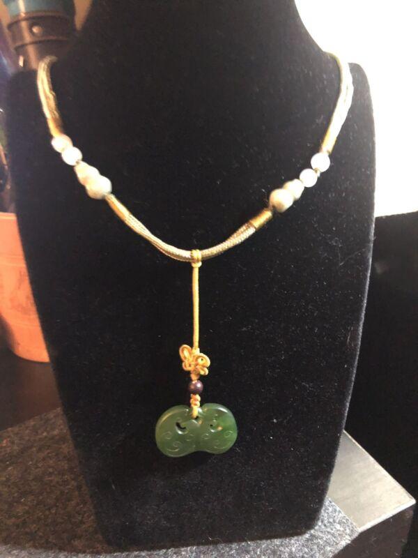 Vintage Chinese amulet pendant necklace
