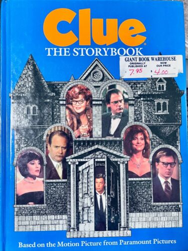 Clue: The Storybook Hardcover 1985 Rare Movie Collectable