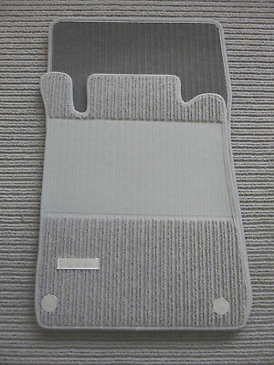 $$$ Lengenfelder Rips Fußmatten für Mercedes Benz SLK R170 + GRAU + Emblem + NEU
