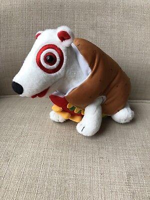 Target Dog Plush Hotdog Costume Stuffed Toy Doll Bullseye - Bullseye Dog Costume