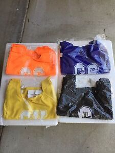 New Junior Netball Bibs (sets of 7) in yellow, black, blue and orange Annerley Brisbane South West Preview