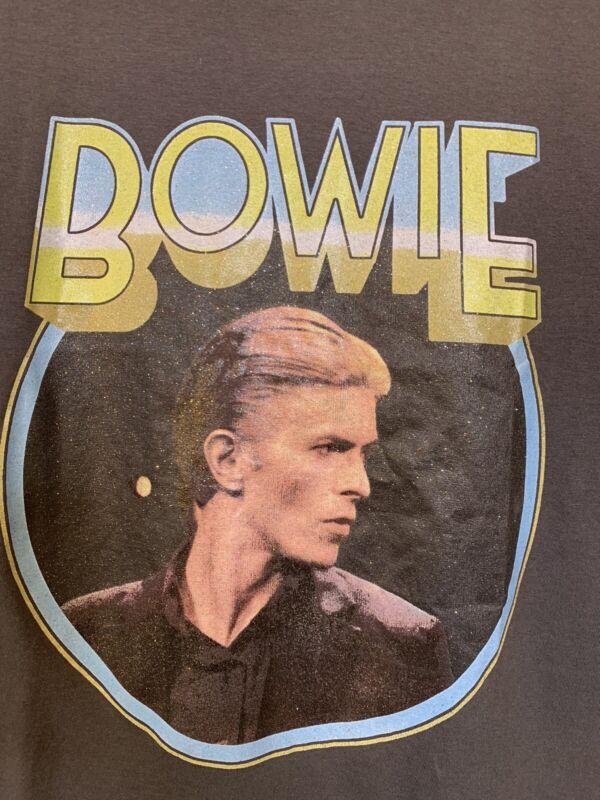 David Bowie Portrait Graphic T-shirt Women's Size M