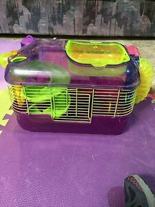 Purple and green hamster cage