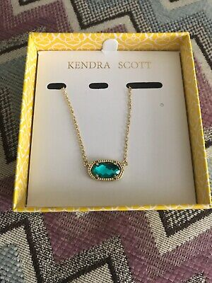 Kendra Scott 14ct gold-plated and Aqua howlite necklace Lovely Boxed Brand New