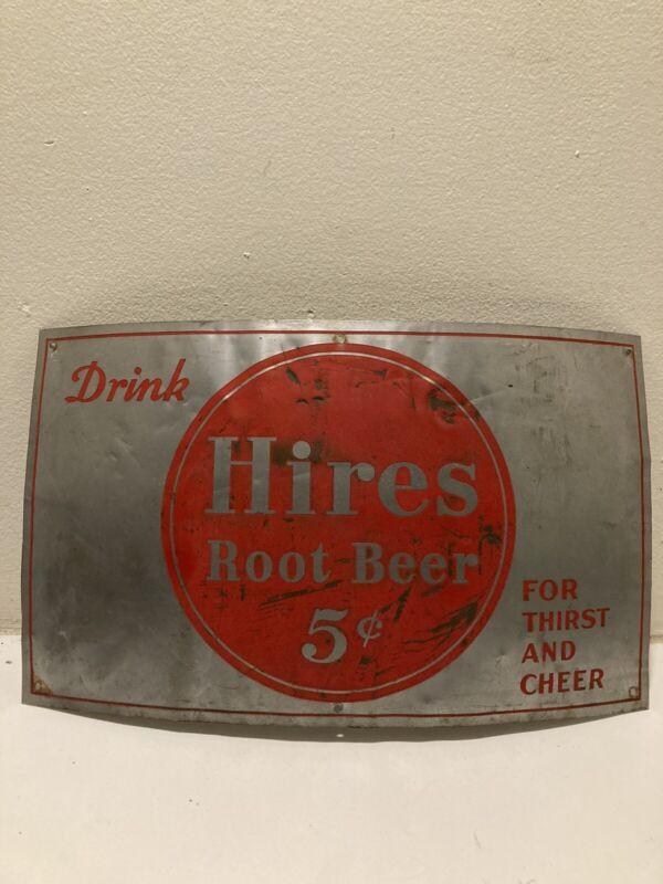 hires root beer sign 5 Cent Original Barrel Sign 1940's Rare Hires Sign