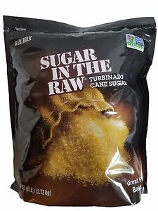 Sugar in the Raw Turbinado Cane Sugar Naturally Gluten Free Vegan 6 LB