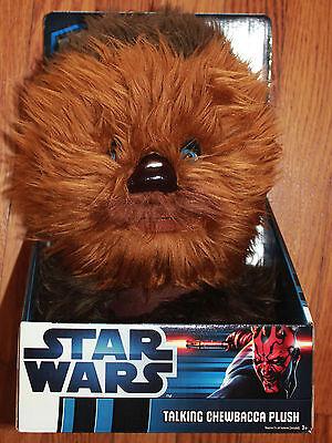 "Star Wars  CHEWBACCA TALKING PLUSH 12""LARGE  STUFFED TOY NEW in Box"