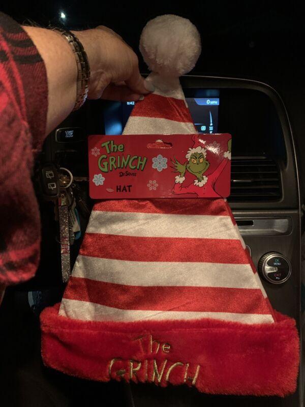 Ruz Grinch Striped Santa Hat