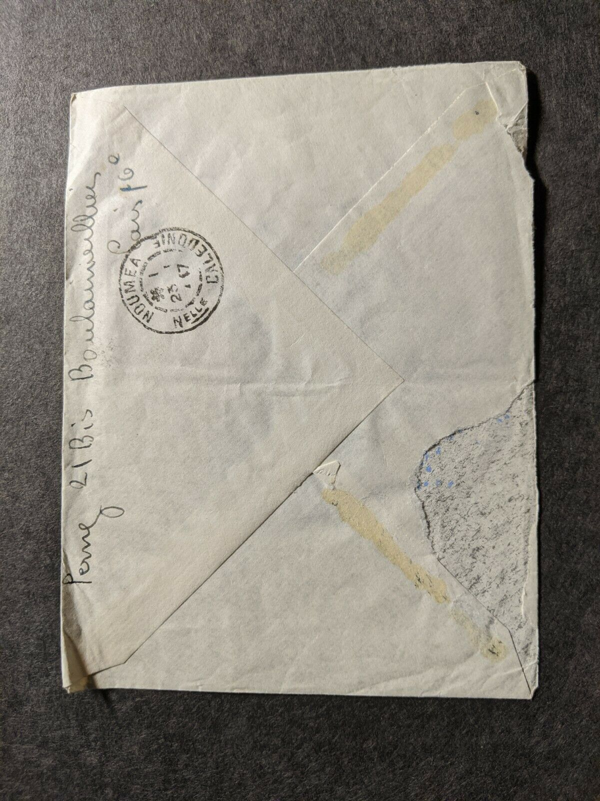 French Ship SS La GILTAIRE Naval Cover 1947 Paris France To Noumea New Caledonia - $9.99