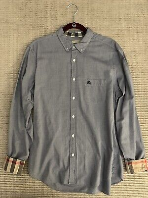 Burberry Mens Size L Blue Shirt