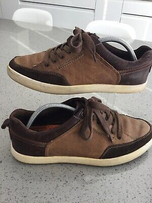 Mens Hush Puppies Casual Comfort Shoes Brown Leather Suede Uk8.5 Wide