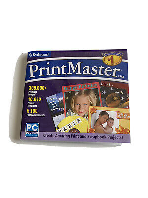 Broderbund PrintMaster v 18.1 - Full Version for Windows 45276 Scrapbook JL303