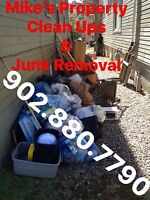 Property Clean Ups&Junk Removal ->Mike's 902.880.7790