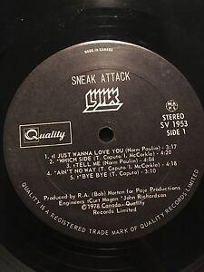 Lynx sneak attack 1978. LP.  Vinyl record.