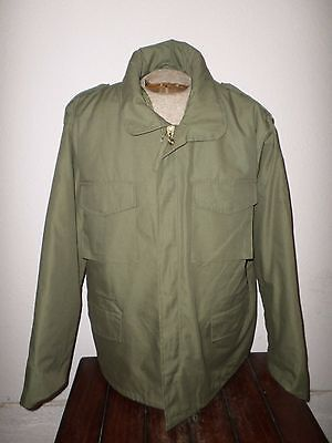 MILITARY STYLE OD GREEN M-65 ARMY COLD WEATHER FIELD JACKET WITH LINER XX LARGE