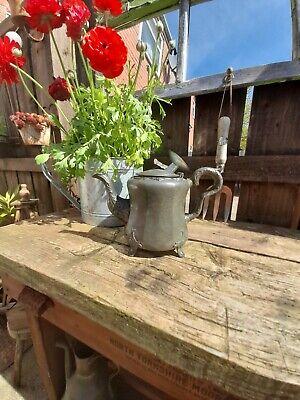 Antique Pewter Ornate Flower Teapot By James Allan Sheffield 1850