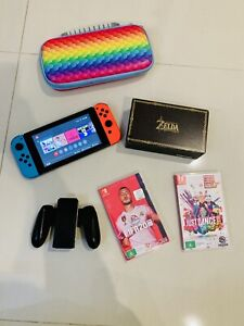Nintendo Switch with TV dock, 2x Games, Joy con, Case Mint condition