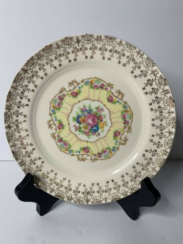 """Vintage American Limoges Delight 22k Gold Trimmed 6 1/4"""" Bread & Butter Plate"""