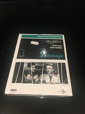 SABOTAJE DVD + LIBRO ALFRED HITCHCOCK PRISCILLA LANE ROBERT CUMMINGS