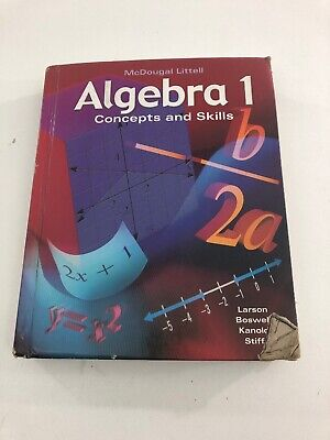 Algebra 1 : Concepts and Skills - Mcdougall Littell (Textbook, Hardcover, 2004)