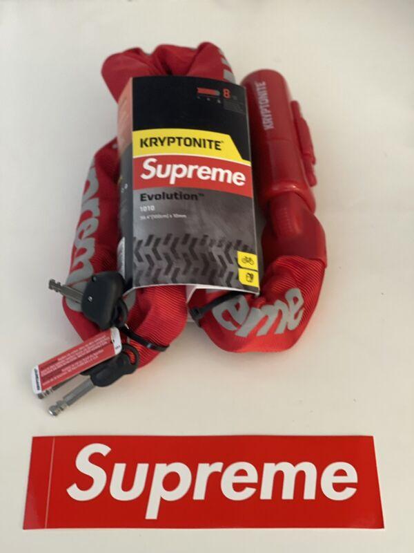 Supreme Kryptonite Integrated Chain Lock **In Hand** Free Box Logo stickers