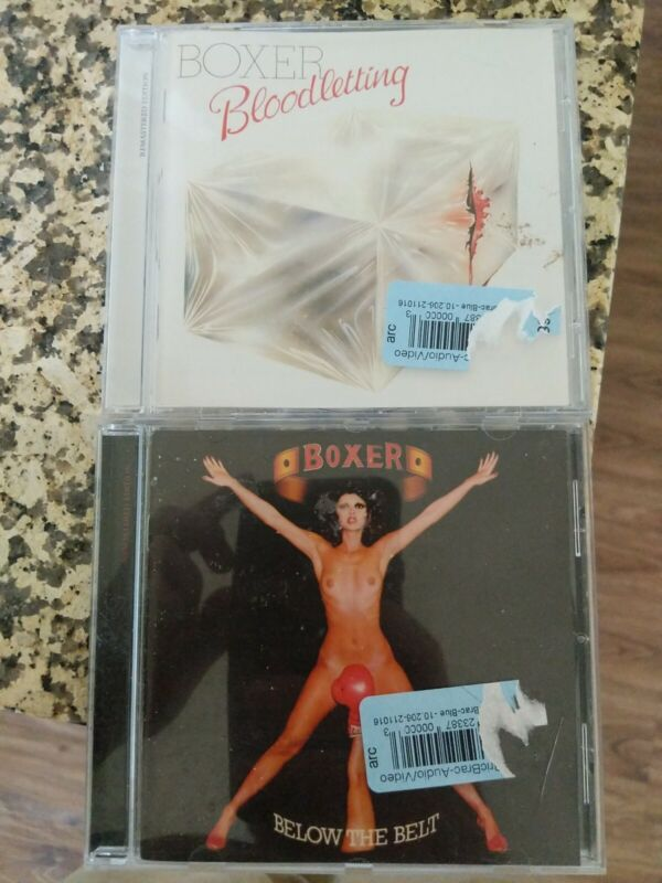 BOXER - BELOW THE BELT + Bloodletting 2 CD Lot remastered editions