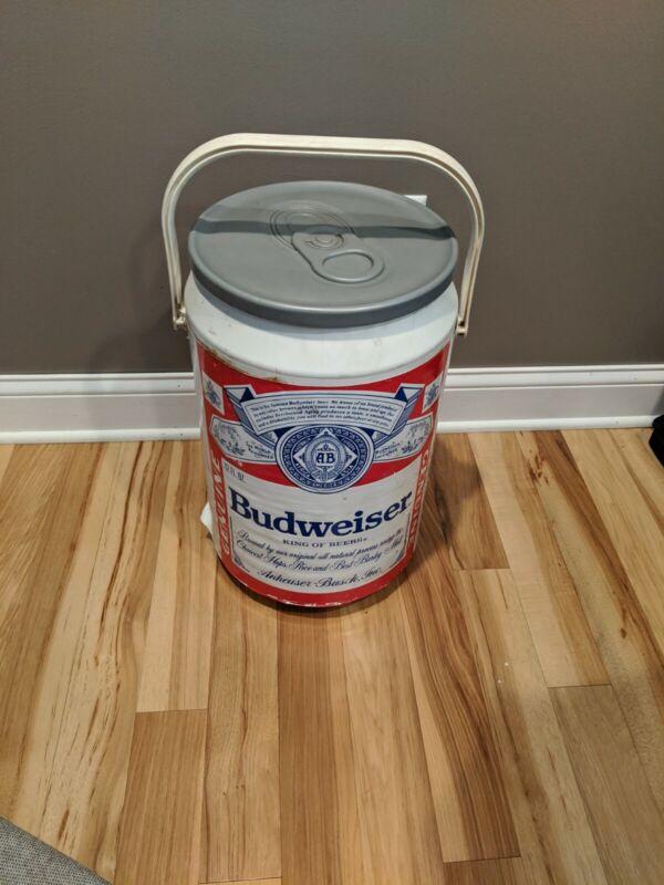 """Budweiser Large Beer Can Cooler Vintage 21"""" Collectible VTG Retro Kooler Kraft"""