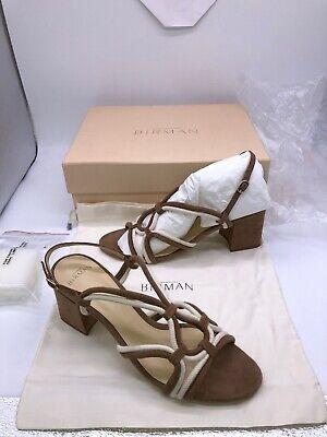 Alexandre Birman Giovanna 90 Suede Sandal Brown Leather Italian Slingback Heel