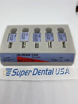 Cerec Emax Mo 1 C14. Ivoclar. Five Total Blocks Superdentalusa