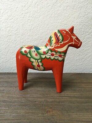 AKTA DALAHEMSLOJD SWEDISH RED DALA HORSE PAINTED NILS OLSSON ORIGINAL LABEL ~ 6