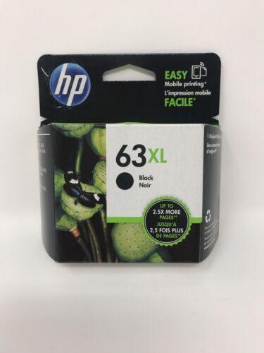 NEW Genuine HP 63XL Black Ink Cartridge F6U64AN High Yield OEM Exp. 2021-2022