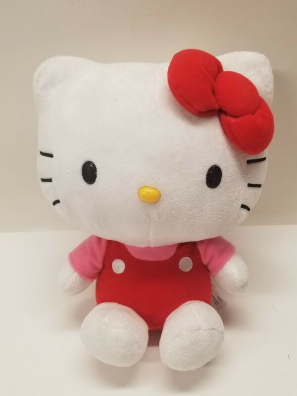 """Plush stuffed 2013 Classic Hello Kitty with Red Bow 9"""""""