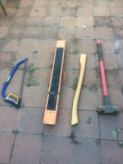 used and new tools, roofing material, nails, screws for sale