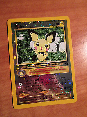 NM Pokemon PICHU Card BLACK STAR PROMO Set #35 Reverse Foil/Holo Wizards WOTC
